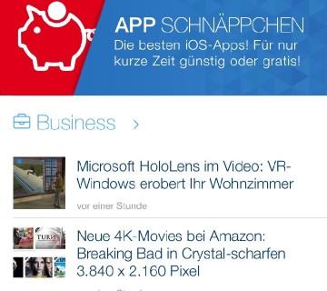 Chip App Schnäppchen